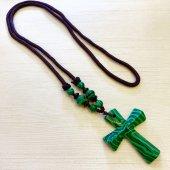 マラカイト 十字架ネックレス/C