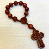 木製 十字架 ミニロザリオ