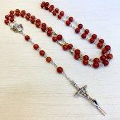 珊瑚 十字架ロザリオ