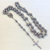 ステンレス鋼 十字架ロザリオ/シルバー