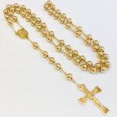 ゴールドカラー 十字架ロザリオ