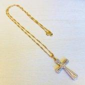 ゴールド×シルバー 十字架ネックレス