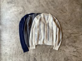<img class='new_mark_img1' src='https://img.shop-pro.jp/img/new/icons13.gif' style='border:none;display:inline;margin:0px;padding:0px;width:auto;' />MOHAIR STRIPE PHAT CARDIGAN