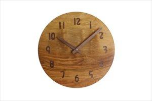 木の時計 直径24cm Wa24AU-25