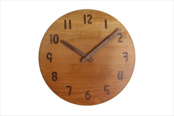 木の時計 直径23cm Wa23AU-13