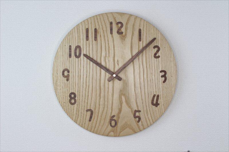木の時計 直径31cm Wa31AU-09