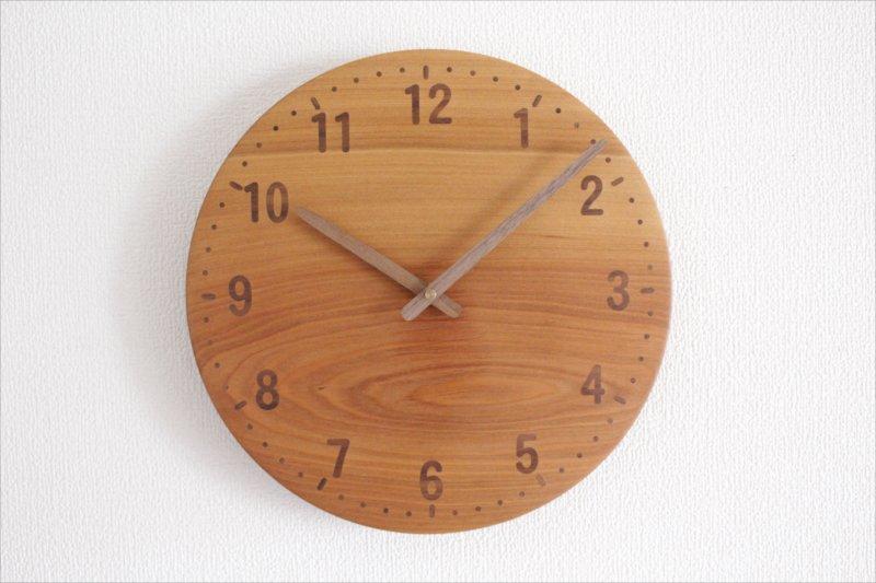 木の時計 直径29cm Wa29AU 桂