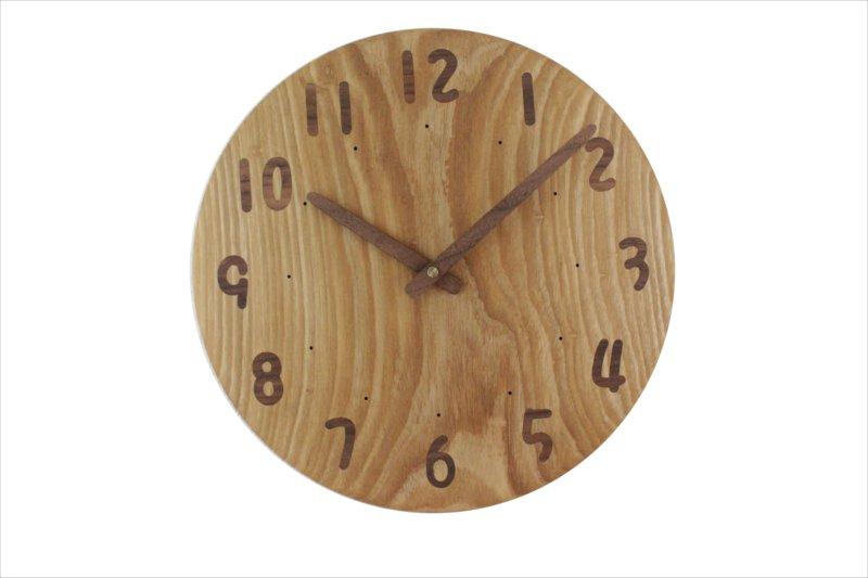 木の時計 直径31cm Wa30AU-140