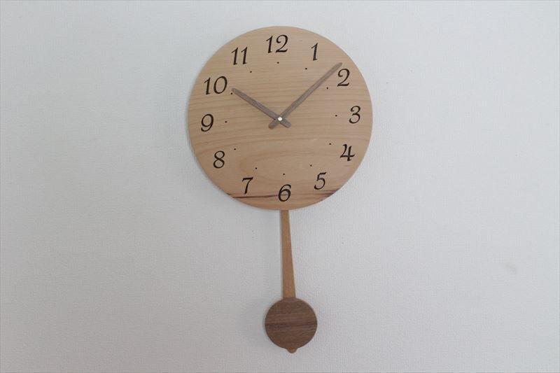 木の振り子時計 直径30cm Wa30ARF-04
