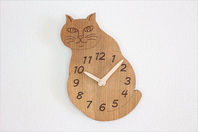「にゃんじ?」 猫しっぽフリフリ振り子時計