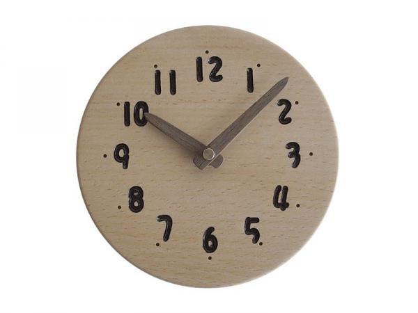 木の時計 直径14cm Wa14AD-02