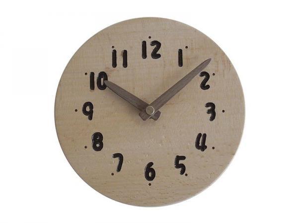 木の時計 直径14cm Wa14AD-03