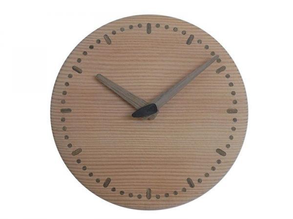 木の時計 直径14cm Wa14N-01