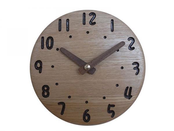 木の時計 直径17cm Wa17AD-06