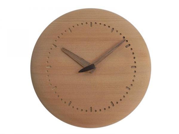 木の時計 直径17cm Wa17N-01