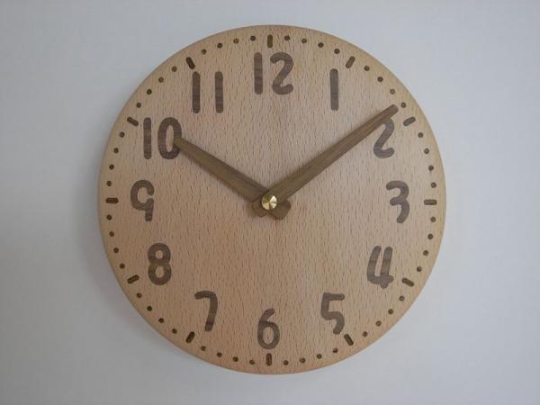 木の時計 直径20cm Wa20AU-01