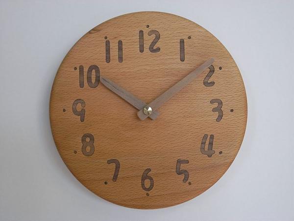 木の時計 直径20cm Wa20AU-05