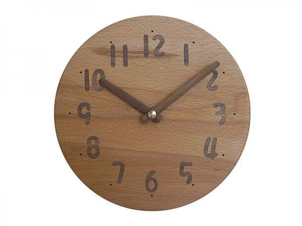 木の時計 直径20cm Wa20AU-07