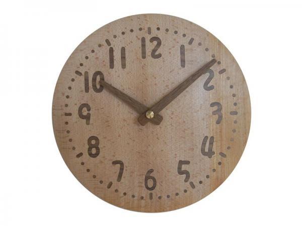 木の時計 直径21cm Wa21AU-01