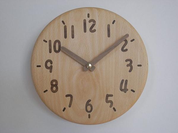 木の時計 直径21cm Wa21AU-02