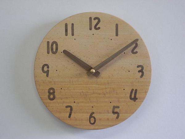 木の時計 直径21cm Wa21AU-05