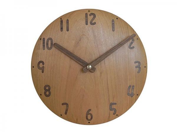 木の時計 直径22cm Wa22AU-06