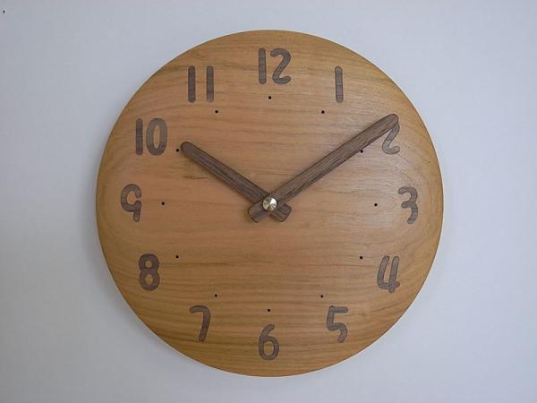 木の時計 直径22cm Wa22AU-07