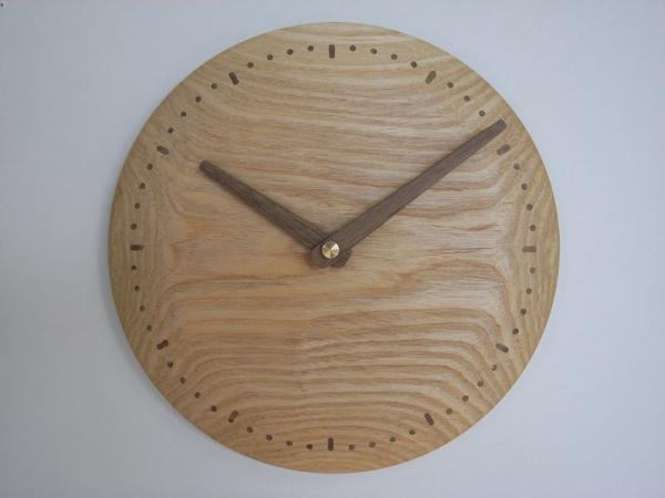 木の時計 直径23cm Wa23N-01