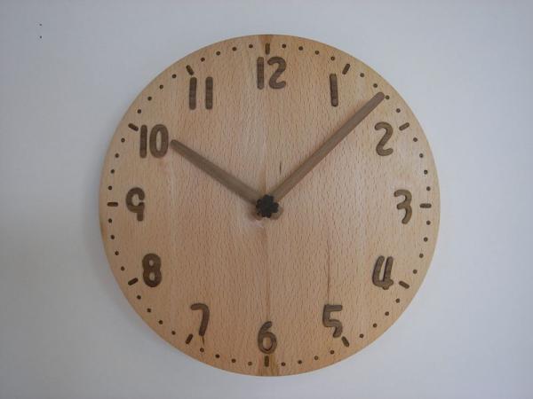 木の時計 直径24cm Wa24A-02