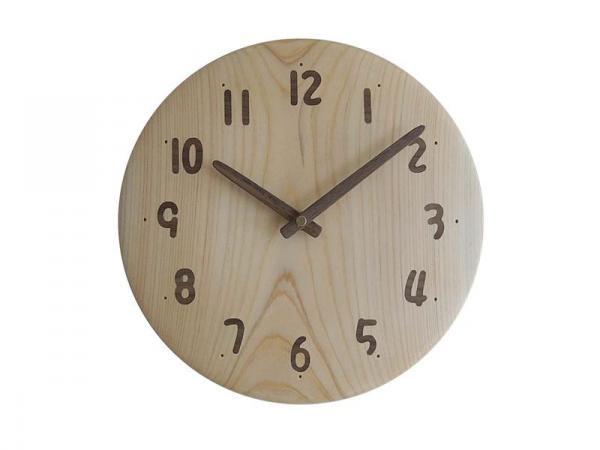 木の時計 直径24cm Wa24AU-11