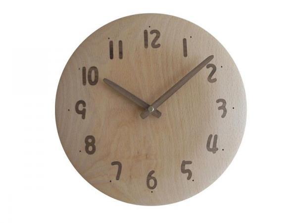 木の時計 直径24cm Wa24AU-13