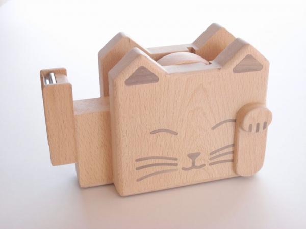 招き猫のテープカッター