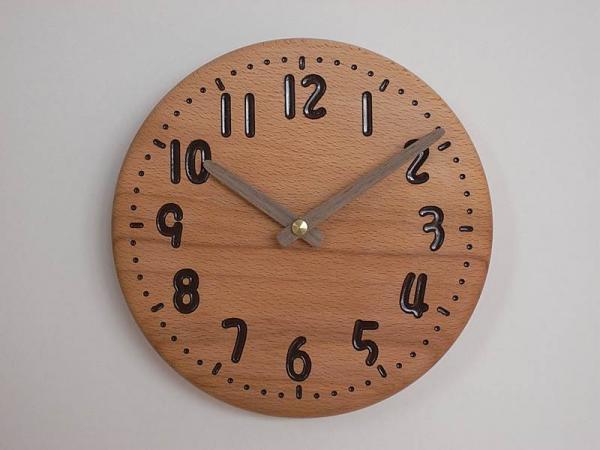 木の時計 直径21cm Wa21AD-02