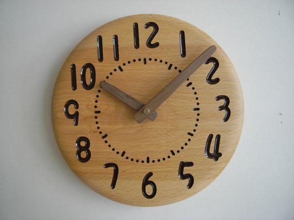 木の時計 直径23cm Wa23AD-01