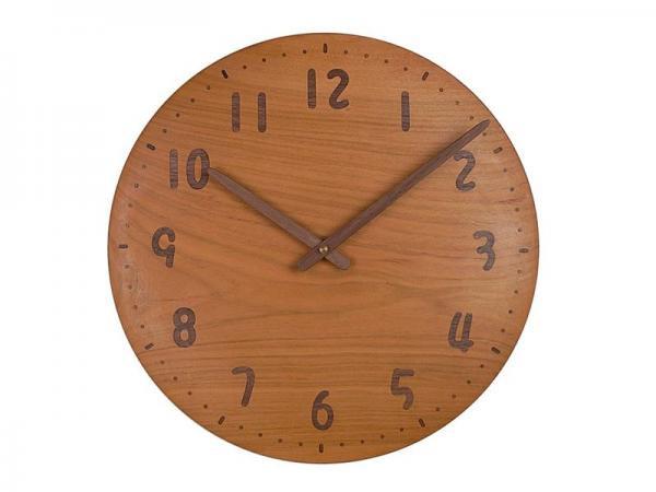 木の時計 直径34cm Wa34AU-13