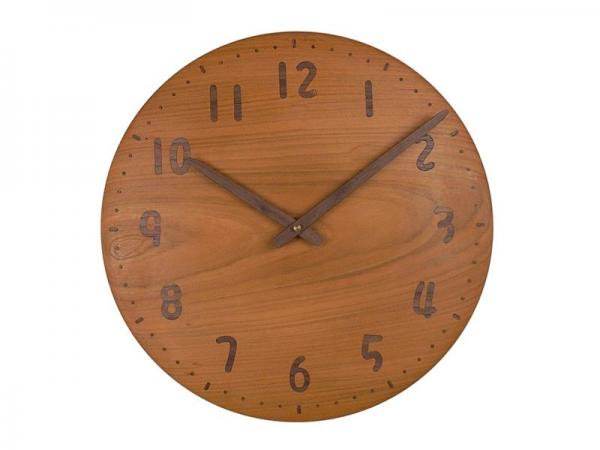 木の時計 直径34cm Wa34AU-14