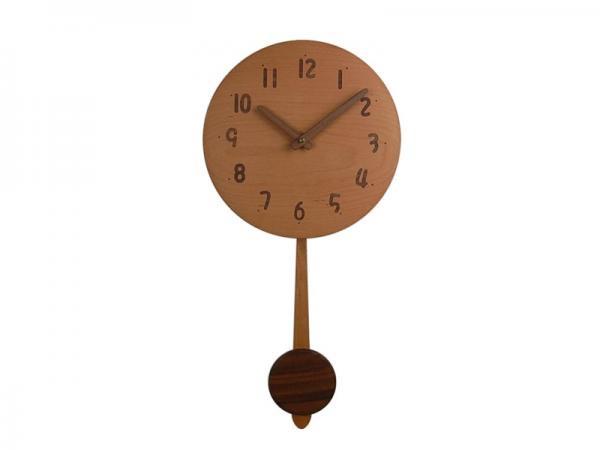木の振り子時計 直径24cm Wa24AUF-01