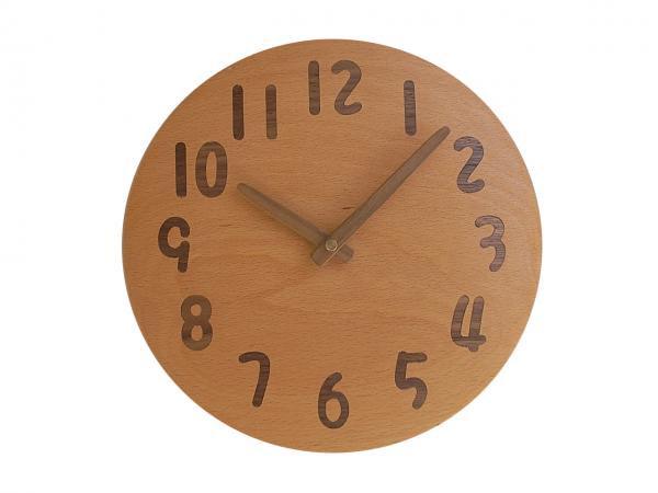 木の時計 直径24cm Wa24AU-21