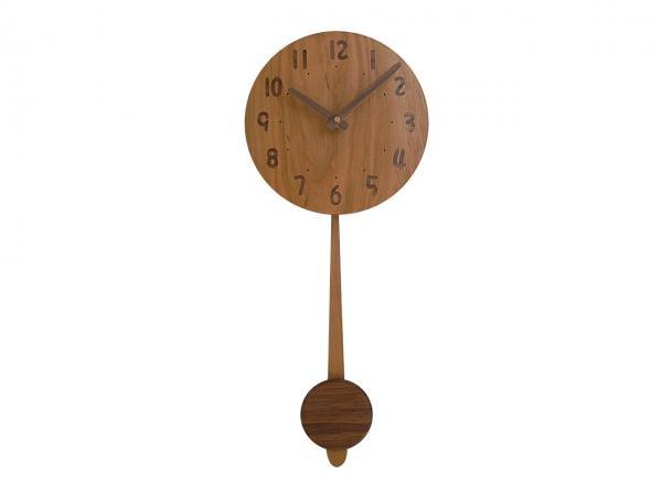 木の振り子時計 直径21cm Wa21AUF-01