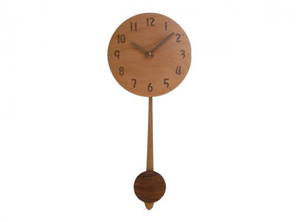 木の振り子時計 直径22cm Wa22AUF-01