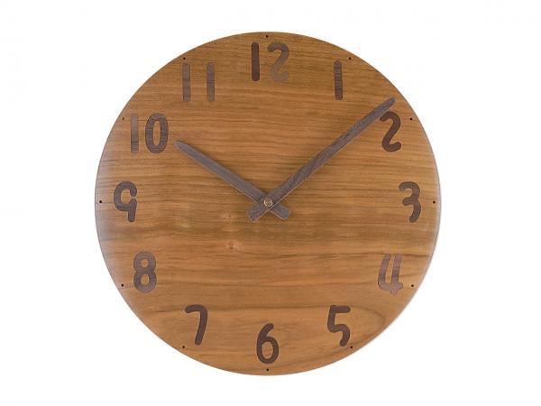 木の時計 直径27cm Wa27AU-22
