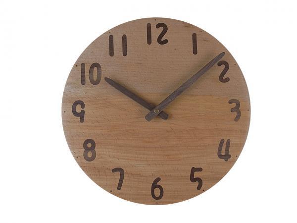 木の時計 直径27cm Wa27AU-24