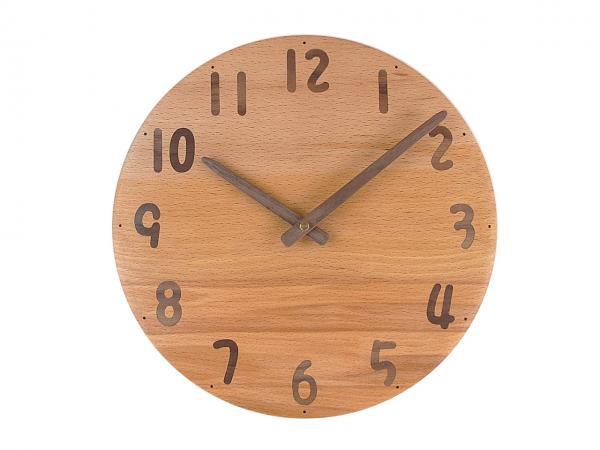 木の時計 直径27cm Wa27AU-25
