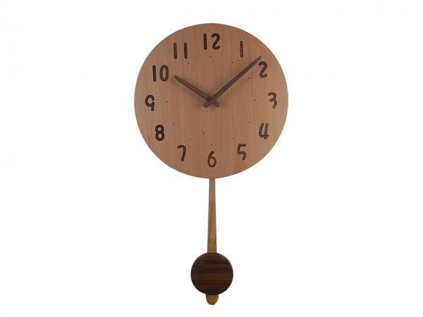 木の振り子時計 直径30cm Wa30AUF-02