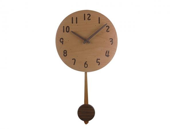 木の振り子時計 直径30cm Wa30AUF-03
