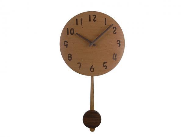 木の振り子時計 直径30cm Wa30AUF-04