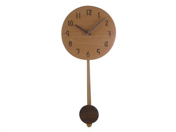 木の振り子時計 直径22cm Wa22AUF-02