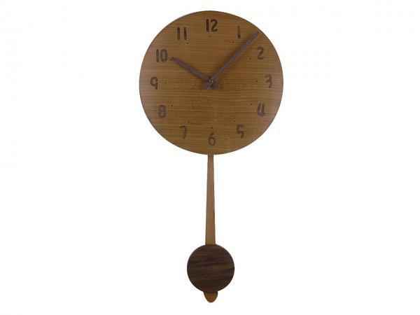 木の振り子時計 直径26cm Wa26AUF-01