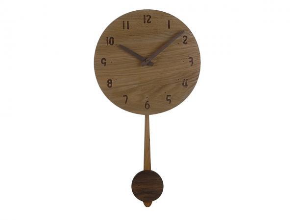 木の振り子時計 直径28cm Wa28AUF-01