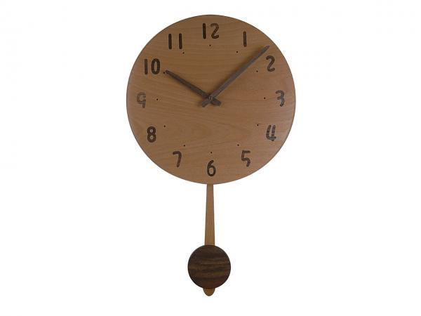 木の振り子時計 直径33cm Wa33AUF-01